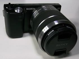 NEX-5D ソニーMCプロテクター+レンズキャップ装着