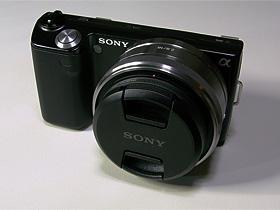 NEX-5D マルミ プロテクター+レンズキャップ装着