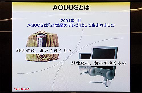2001年AQUOS誕生