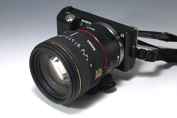 「NEX-5」+「マウントアダプターLA-EA1」+「SIGMA 30mm F1.4 EX DC」