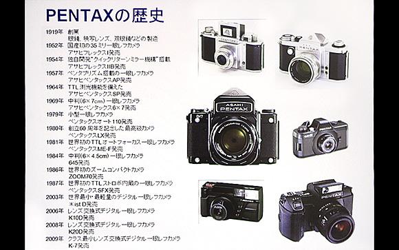 ペンタックスデジタル一眼レフカメラ「K-5」体験イベント:PENTAX(ペンタックス)の歴史
