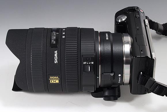 「NEX-5」+「マウントアダプターLA-EA1」+「SIGMA 8-16mm F4.5-5.6 DC HSM」