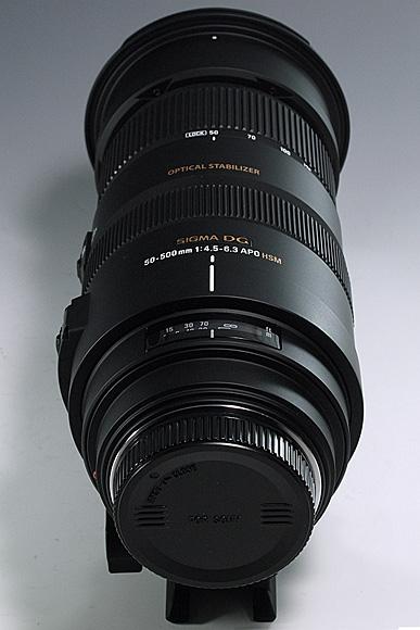 「SIGMA APO 50-500mm F4.5-6.3 DG OS HSM」と「SEL1855 E18-55mm F3.5-5.6 OSS」