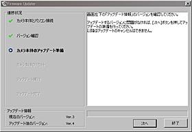 NEX-5ファームウェアアップグレードver.4
