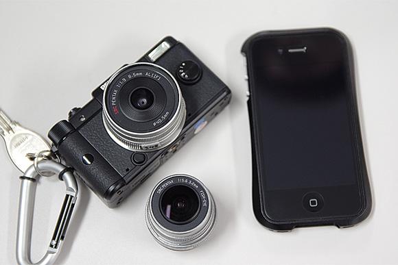 デジタル一眼の進化系。ナノ一眼「PENTAX Q」体験イベント:iPhone4と比較