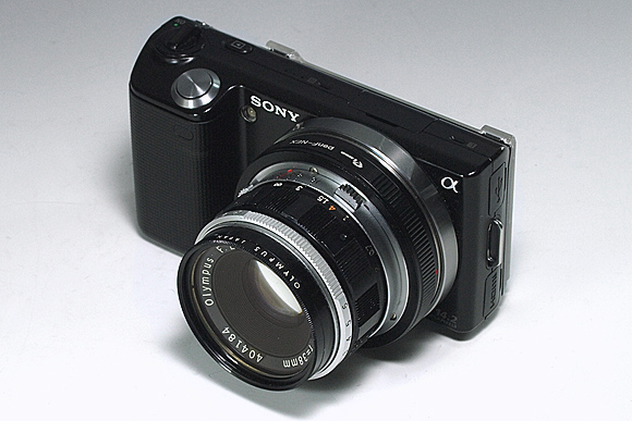 NEX-5 + F.Zuiko Auto-S f1.8 38mm