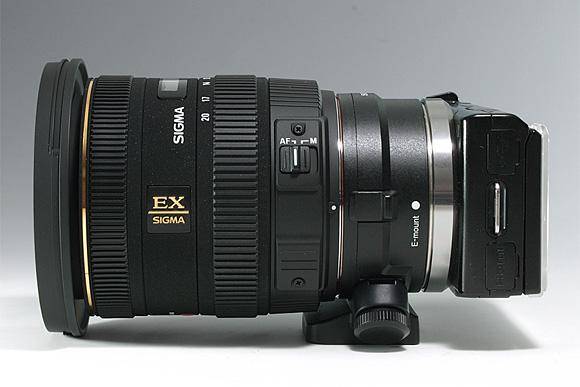 NEX-5+マウントアダプターLA-EA1&キットレンズE16mm F2.8と「SIGMA 30mm F1.4 EX DC」