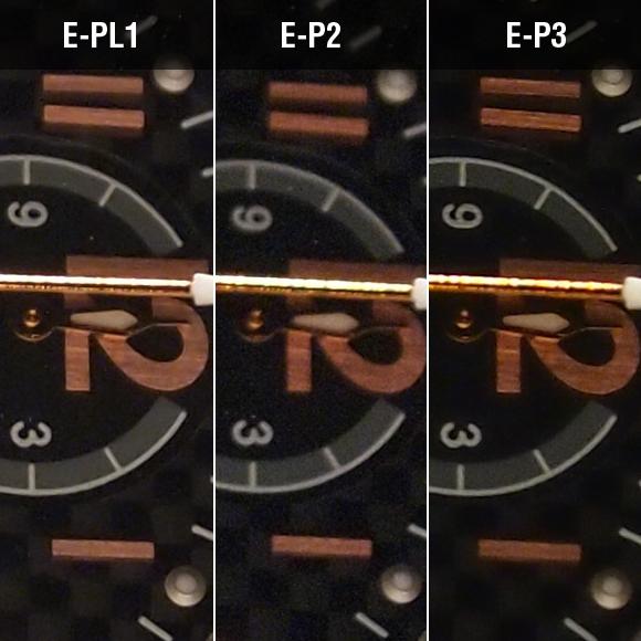 E-PL1、E-P2、E-P3比較