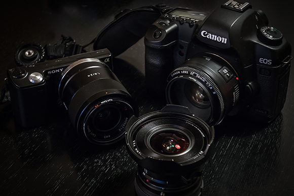 CANON 5D2 NEX-5