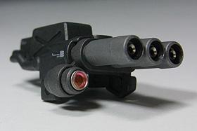 3連ガトリング砲:HGUC ザクII F2)