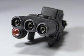 3連ガトリング砲:1/144 HGUC ザクII F2